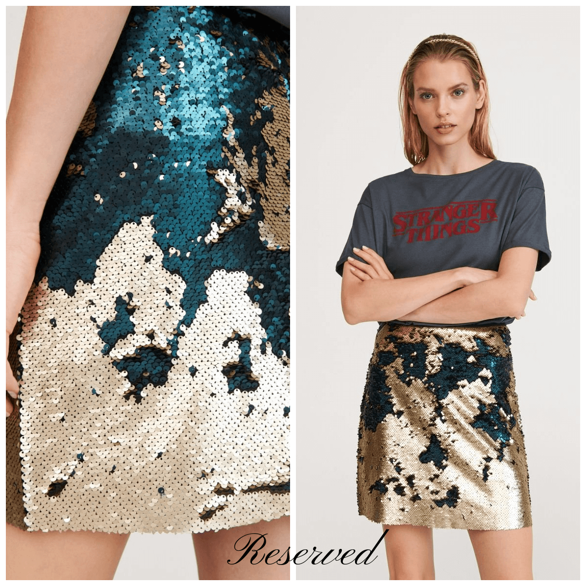 chic sequins reserved fashon