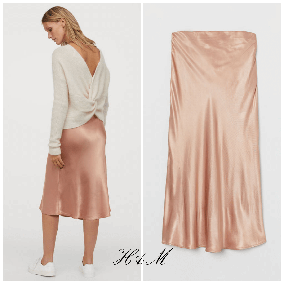 chic satin H&M