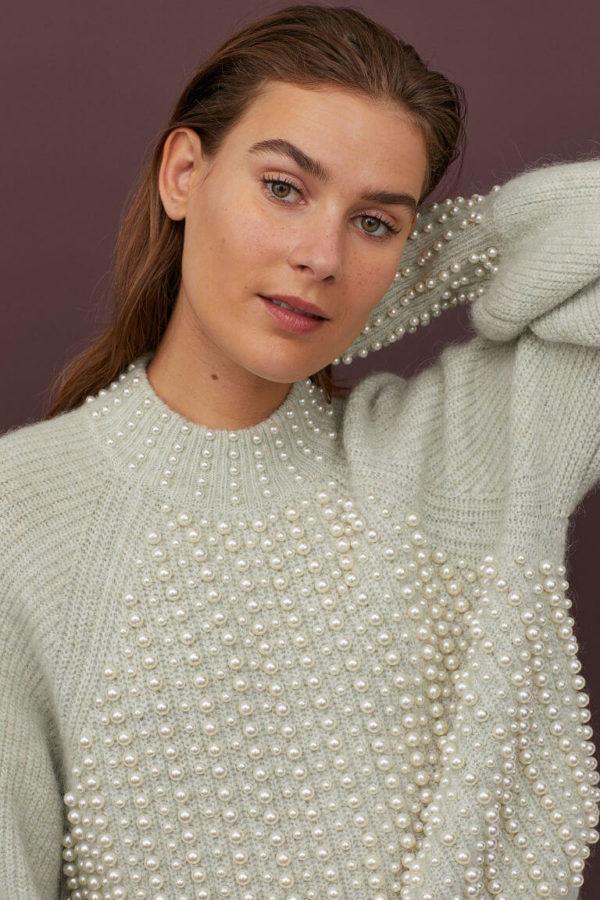 chic zielen sweter H&M