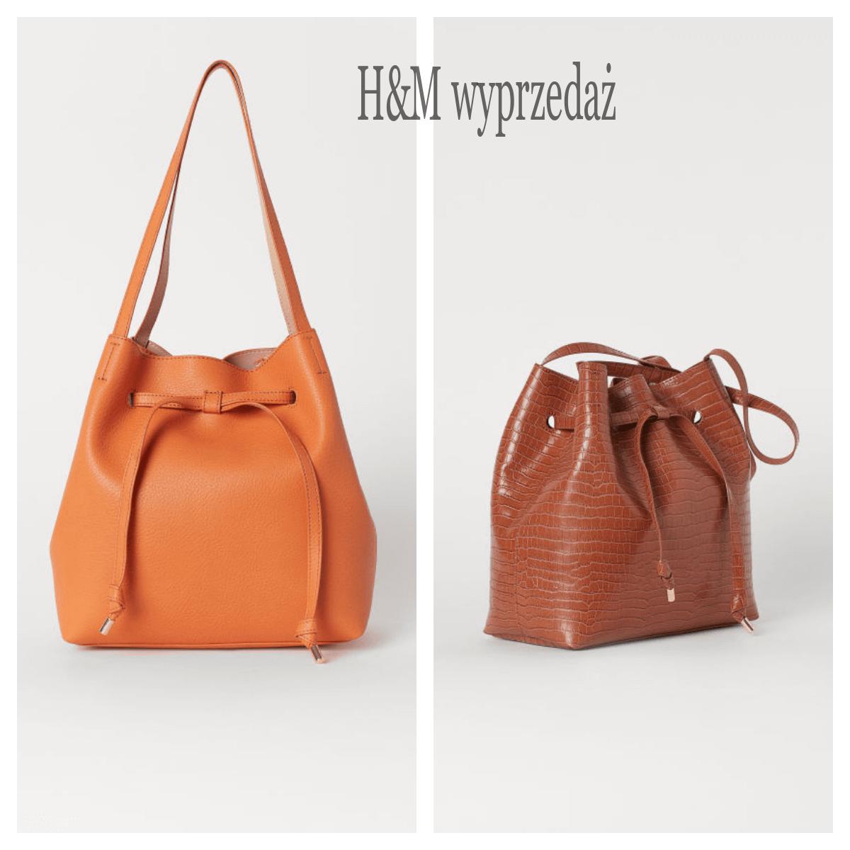 wyprzedaż torebek H&M worek