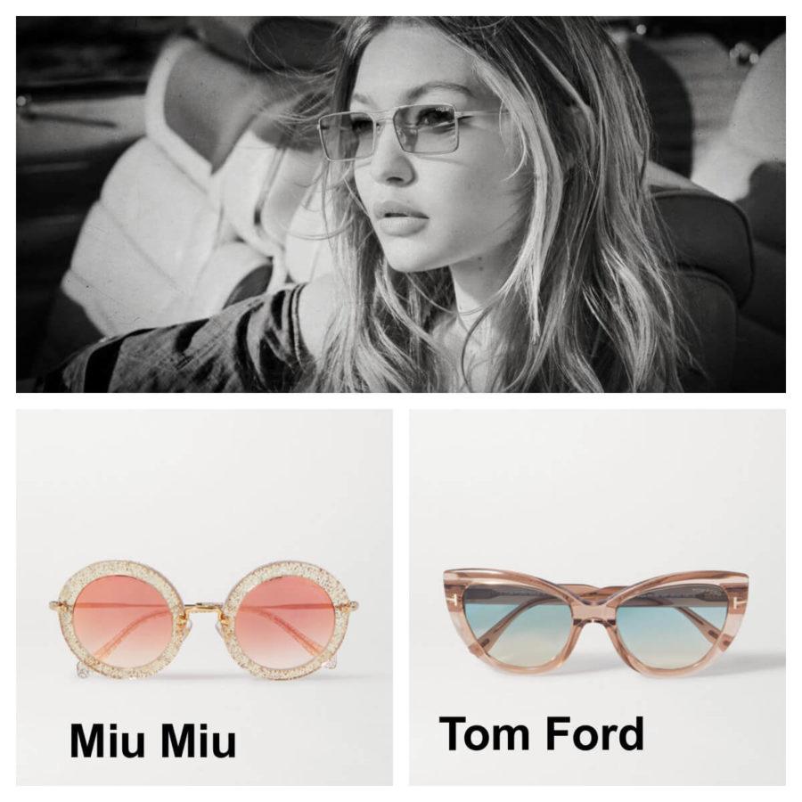 uwodząc spojrzeniem okulary przeciwsłoneczne