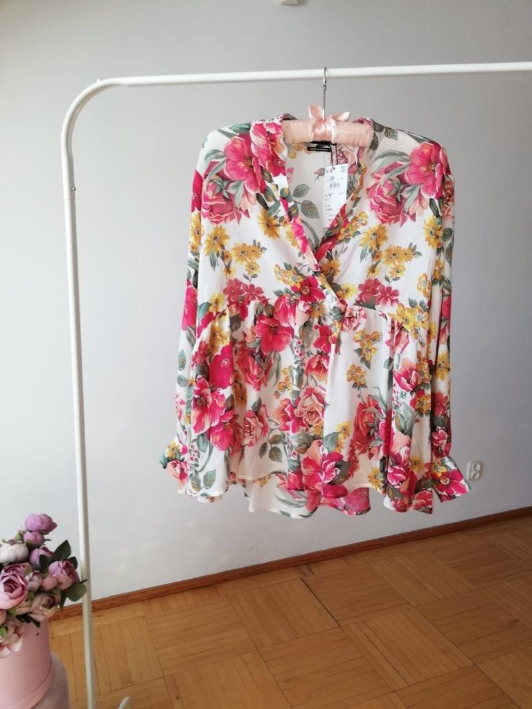 bluzka damska z dekoltem V