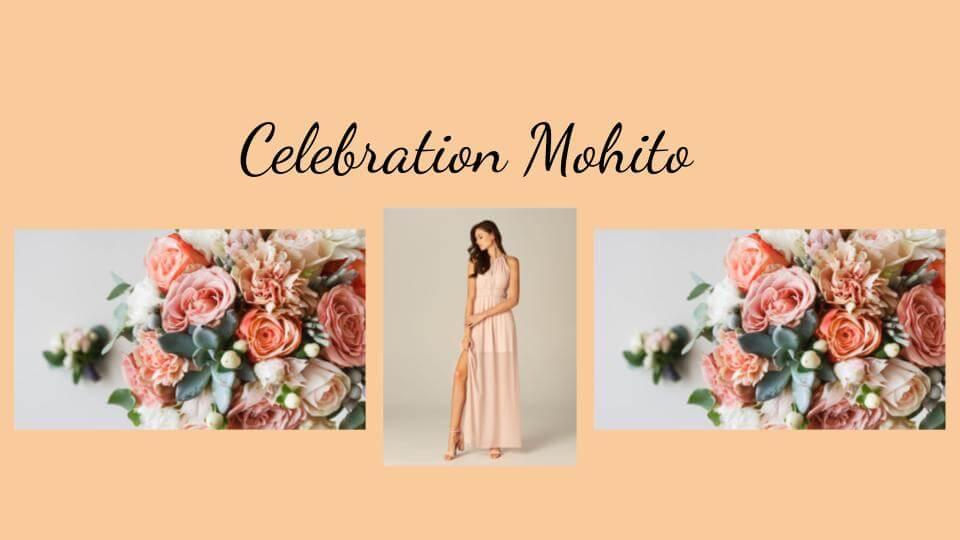 sukienki i kolczyki z Mohito - różowe tło
