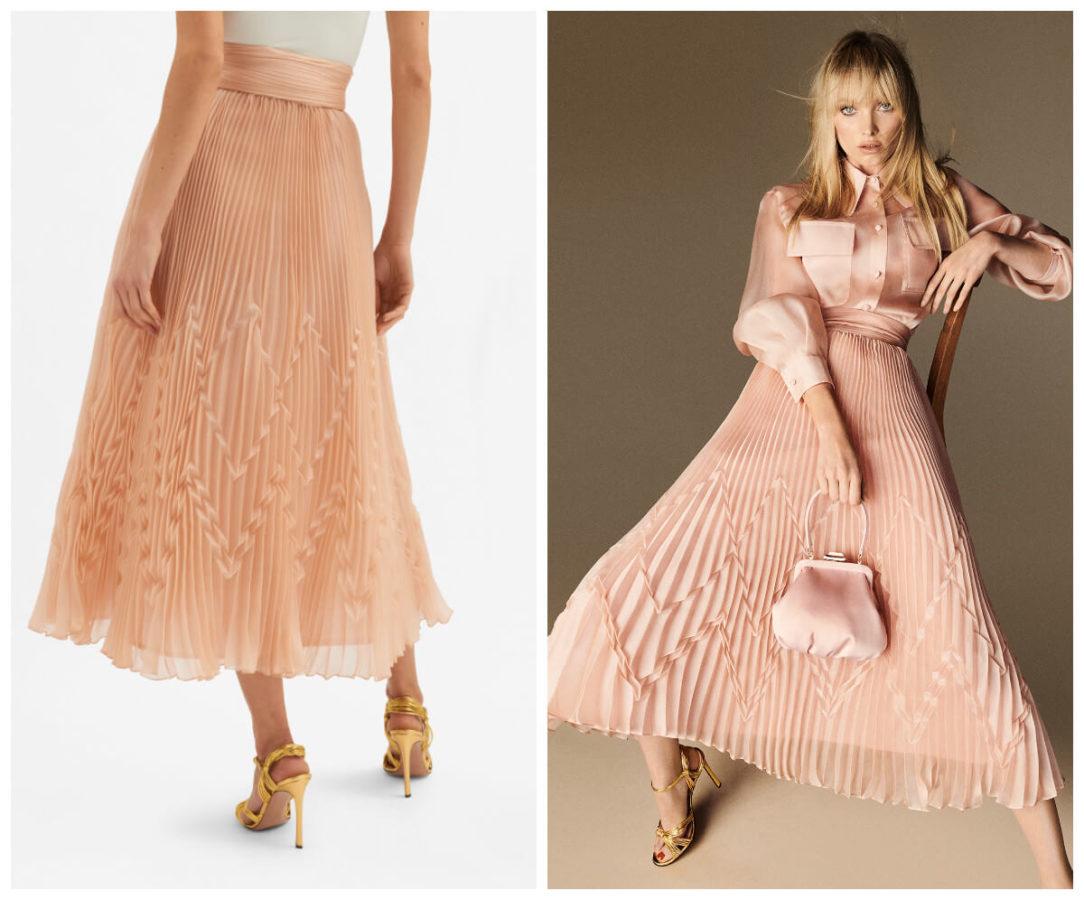 włoskie wakacje z Luisa Spagnoli różowa spódnica
