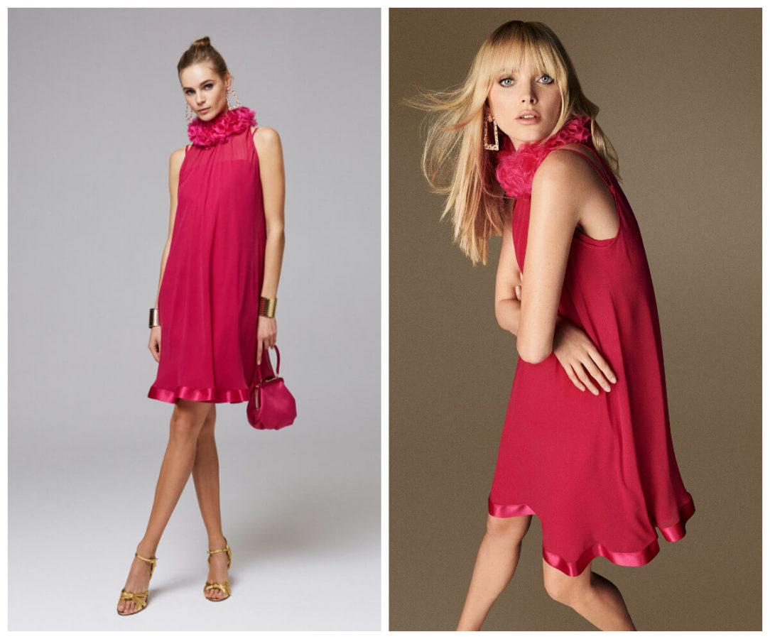 włoskie wakacje z Luisa Spagnoli czerwona sukienka