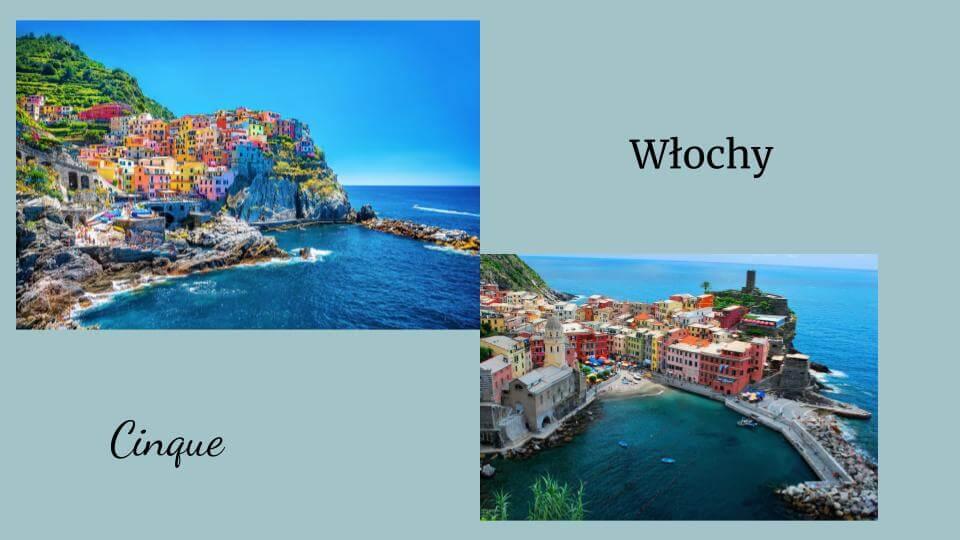 włoskie wakacje Cinque widok