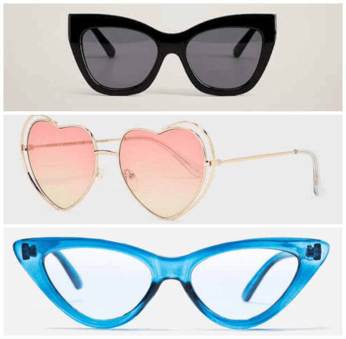 kocie okulary trzy modele