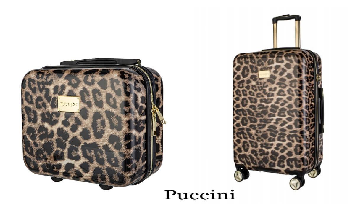 walizka z Puccini na wakacje we wzór panterkę