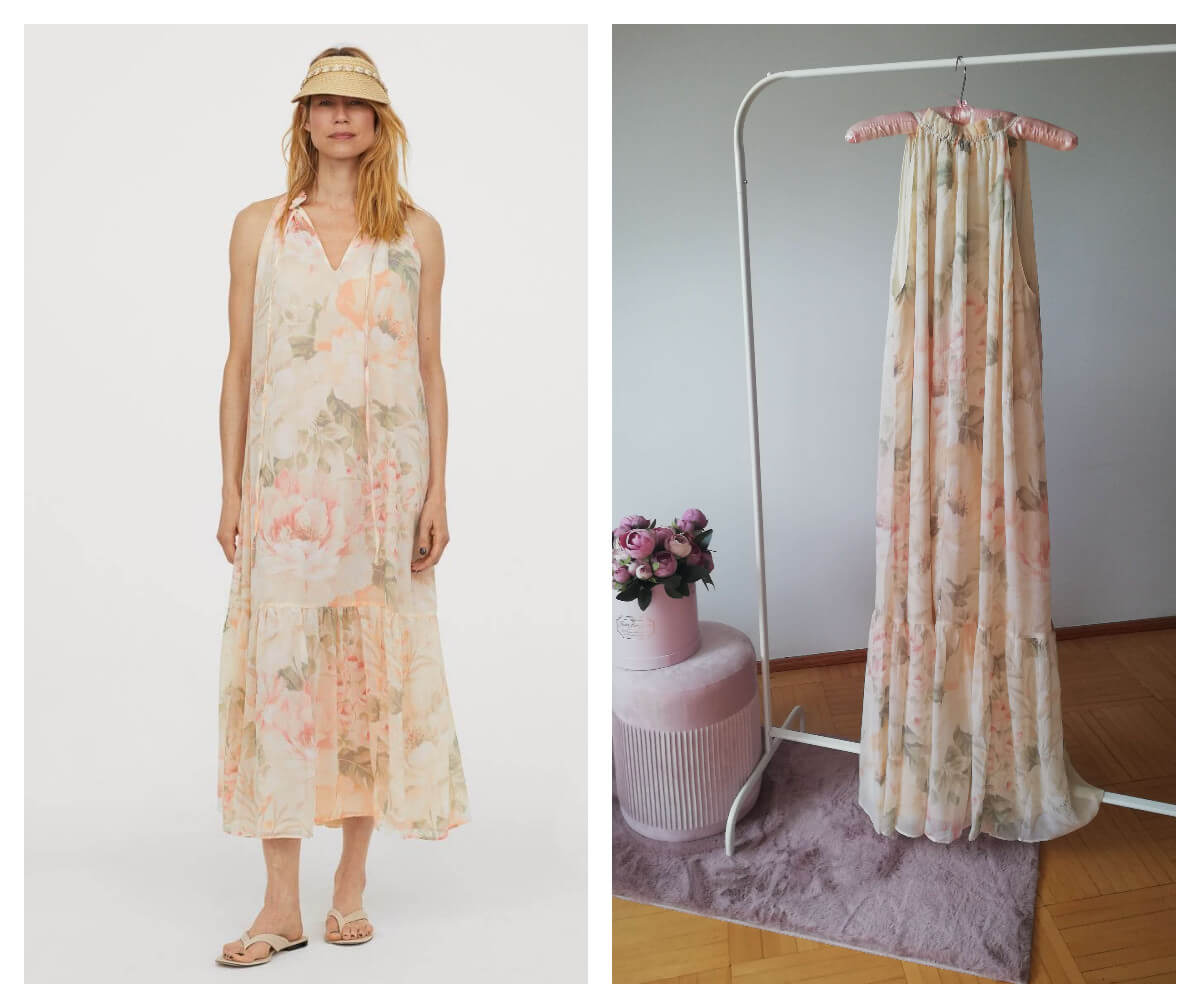 wyprzedaże letnie 2020 sukienka z szyfonu H&M