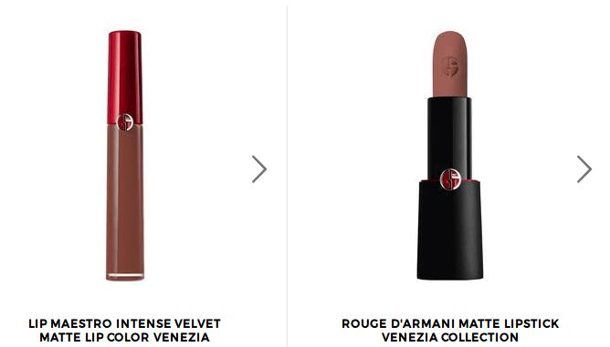 prefekcyjny makijaż markami premium szminka i błyszczyk Armani