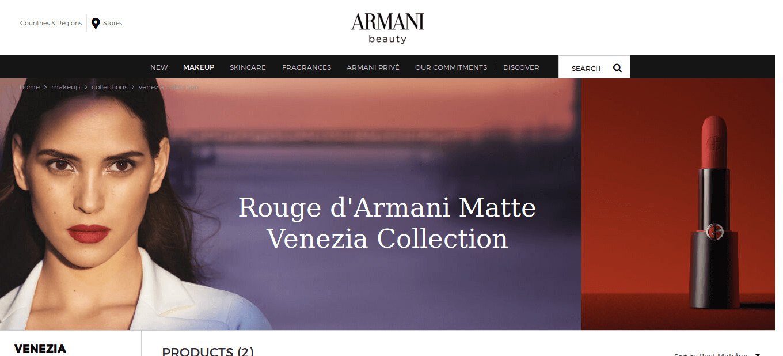 prefekcyjny makijaż markami premium kolekcja Armaniego Venezia
