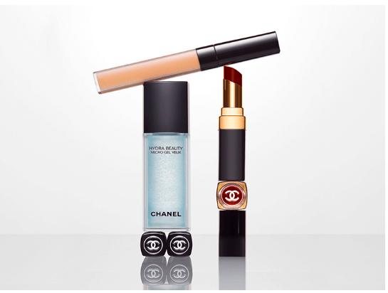 perfekcyjny makijaż markami preium zestaw kosmetyków od Chanel