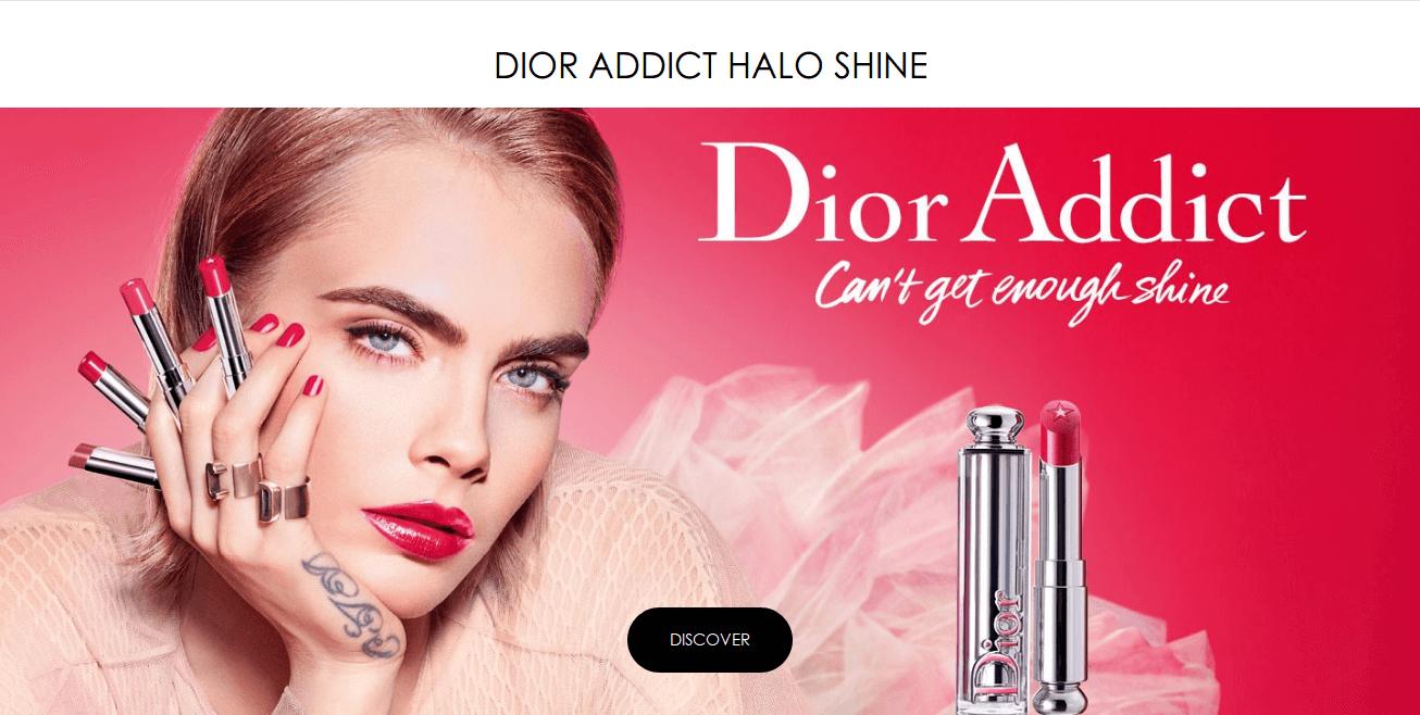 perfekcyjny makijaż markami premium błyszczyk do Diora