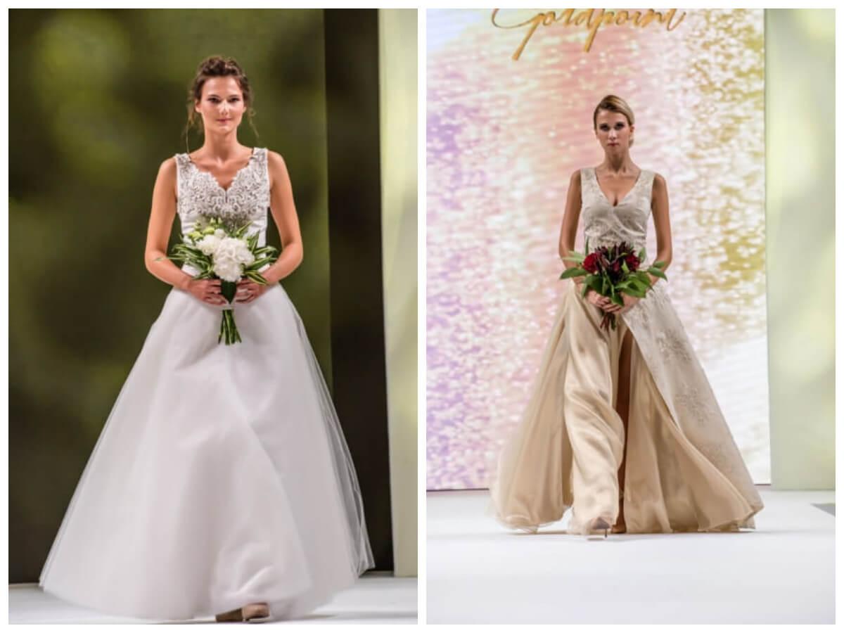Ślub od pierwszego wejrzenia suknie Goldpoint modelki na wybiegu