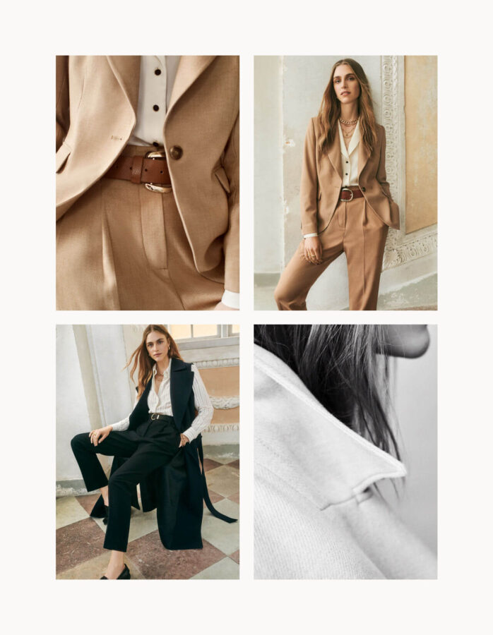jesienny beż dwa garnitury od H&M