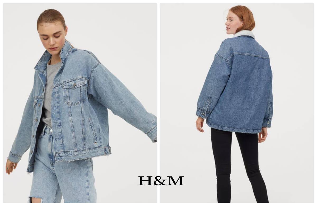 jeans król trendów dwie kurtki jeansowe z h&m