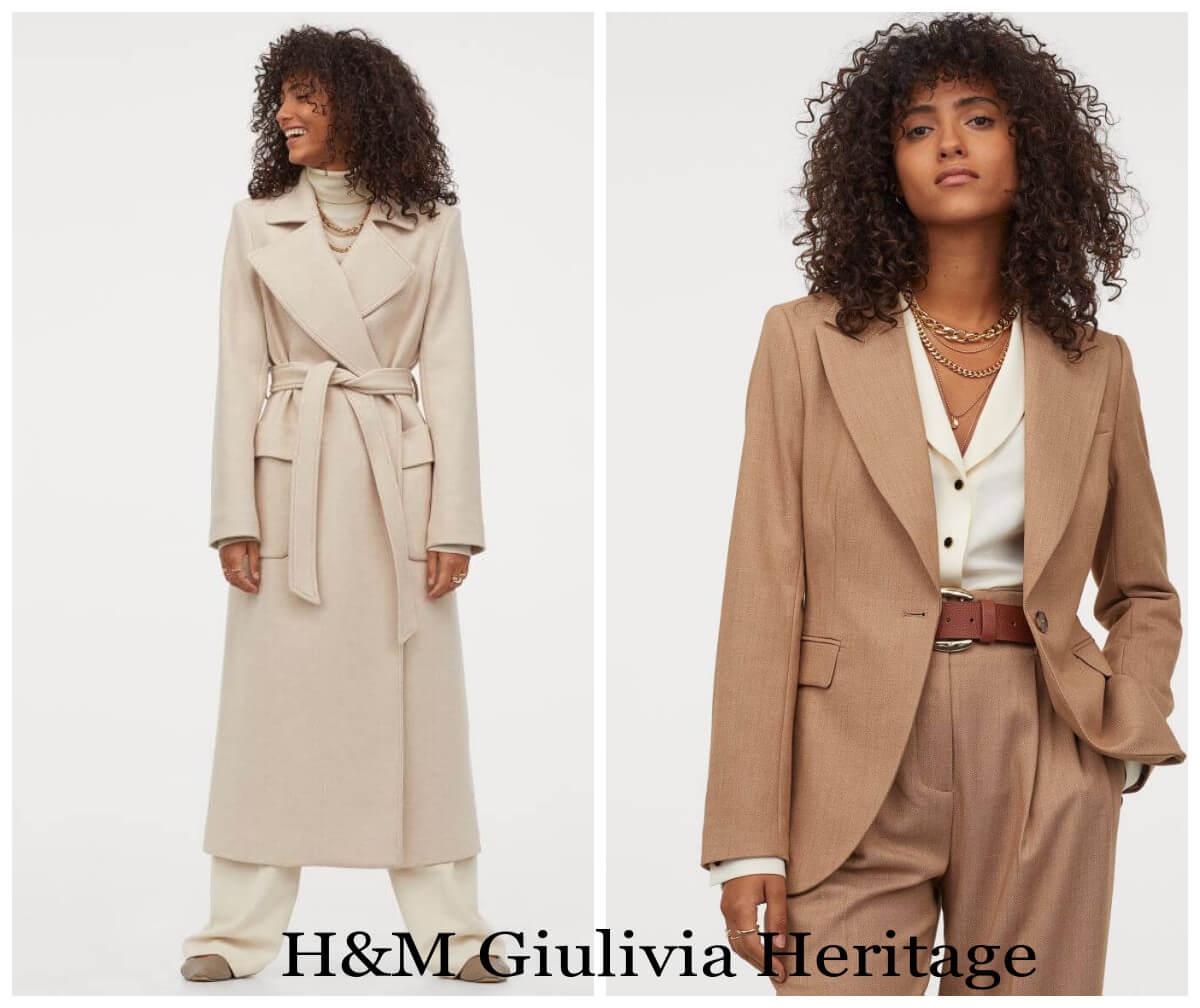 jesinne beże dwa beżowe płaszcze z H&M