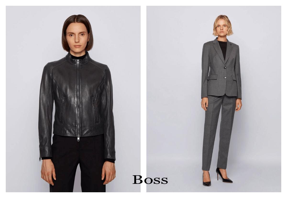 złam zasady i wybierz czerń dwie modelki od Boss