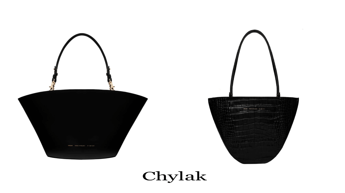 złam zasady i wybierz czerń dwie torebki od Chylak