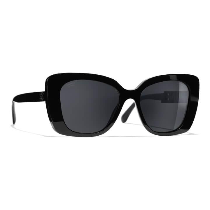 czarne okulary przeciwsłoneczne od Chanel