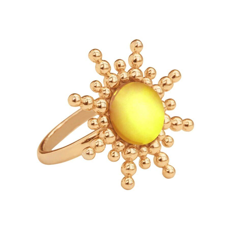 złoty pierścionek od LiLou