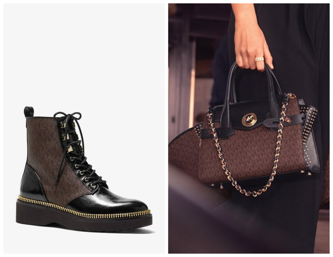 buty od MIchael KOrs oraz torebka do kompletu