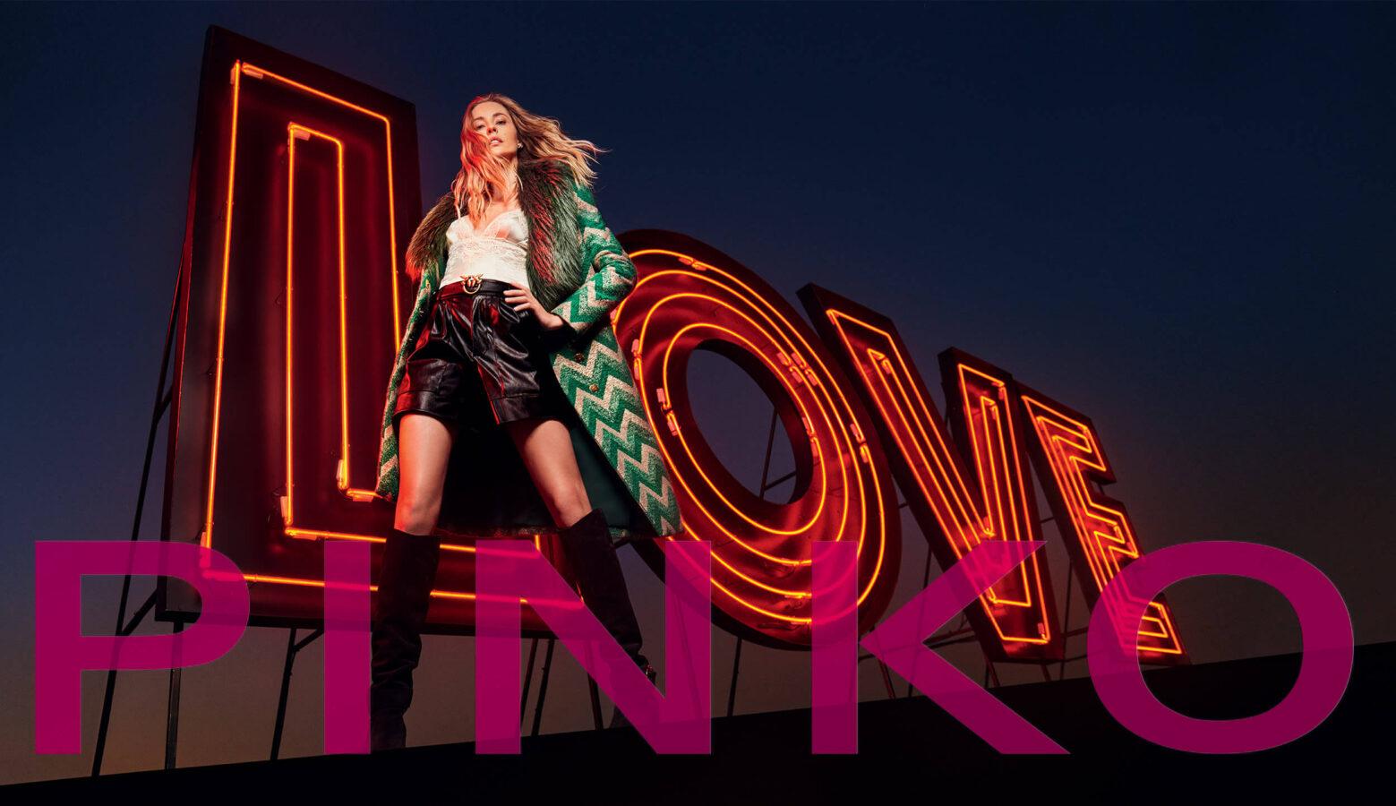 boho style na jesień 2020 modelka z kampanii Pinko