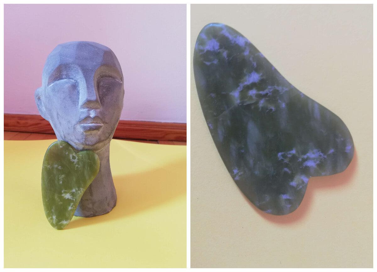 naturalna pielęgnacja skóry twarzy płytką gua sha