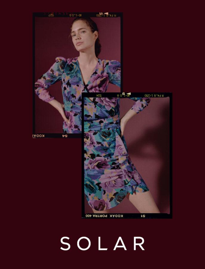 modelka w sukienkce od Solar