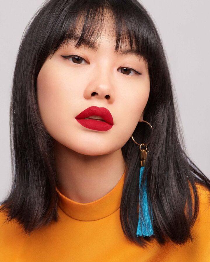 makijaż na święta modelka azjatka