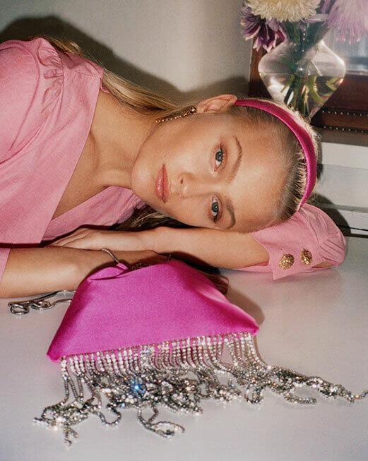 różowa torebka worek
