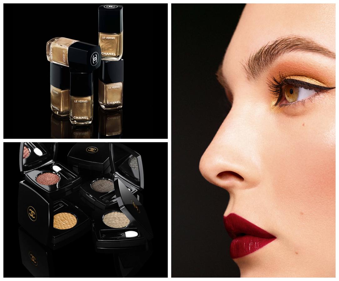 Święteczne trendy makijązowe kolekcja kosmetyków od Chanel