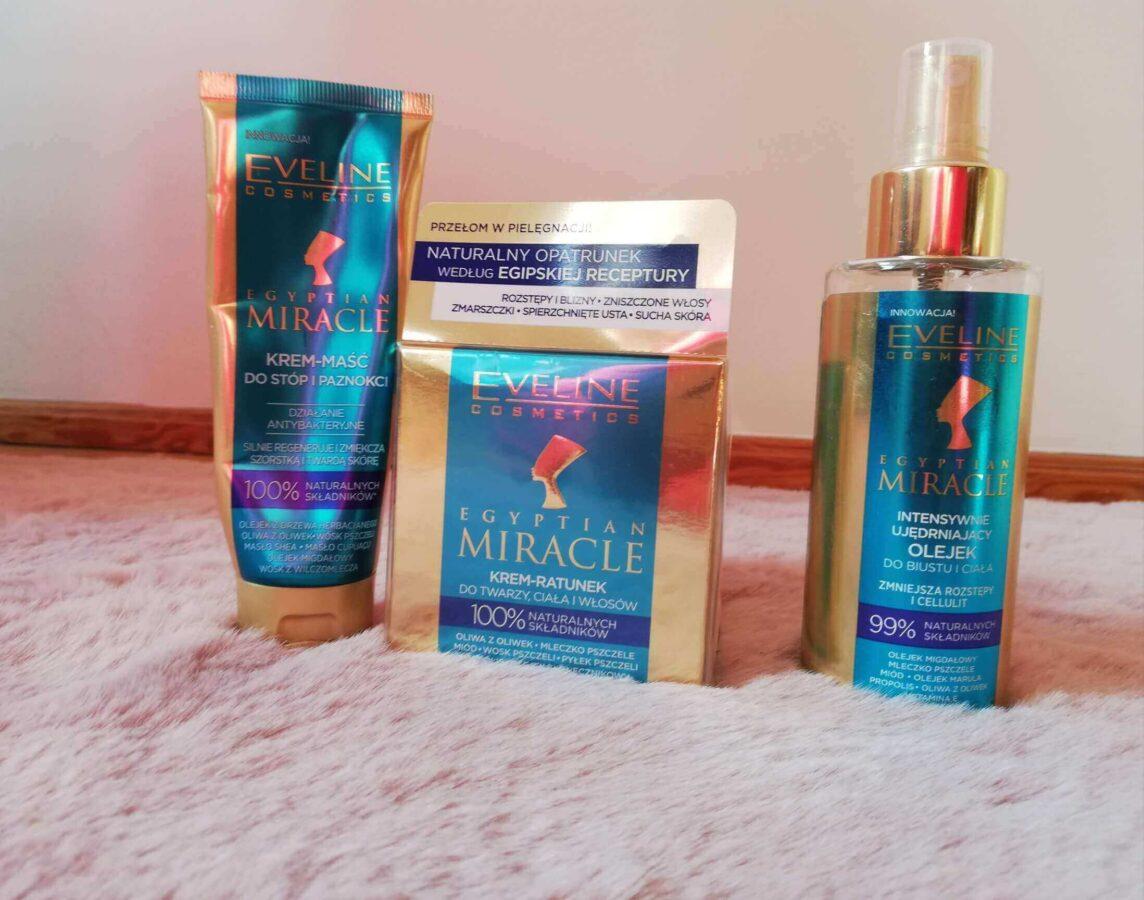Egiptian Miracle od polskiej marki Eveline zestaw kosmetyków