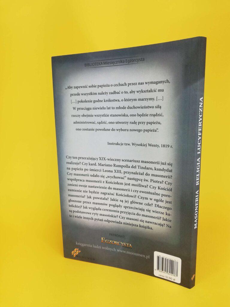 Masoneria tylna okładka ksiązki
