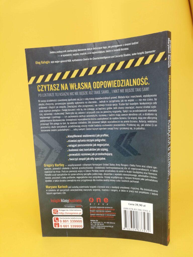 najniebezpieczniejsza książka o biznesie okłądka tylnia