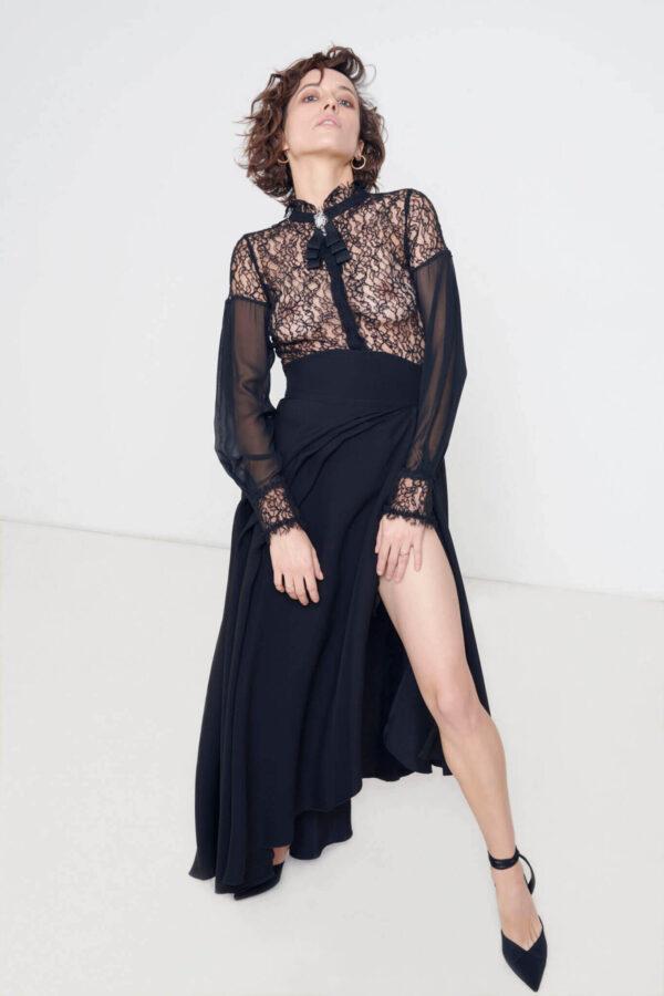 Aleksanda Hamkało w sukience czarnej od Izabeli