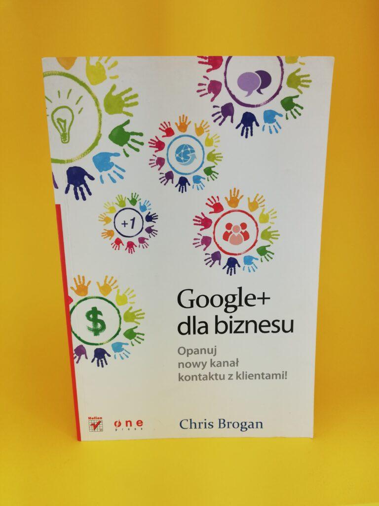 Google+ dla biznesu okłądka pierwsza
