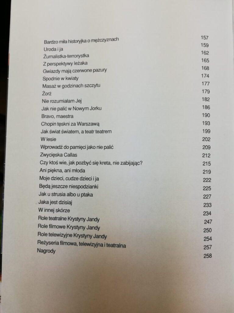 Krystyna Janda spis treści 2