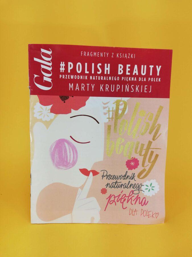 """""""#polish beauty Przewodnik naturalnego piękna dla kobiet"""" pierwsza strona reklama"""