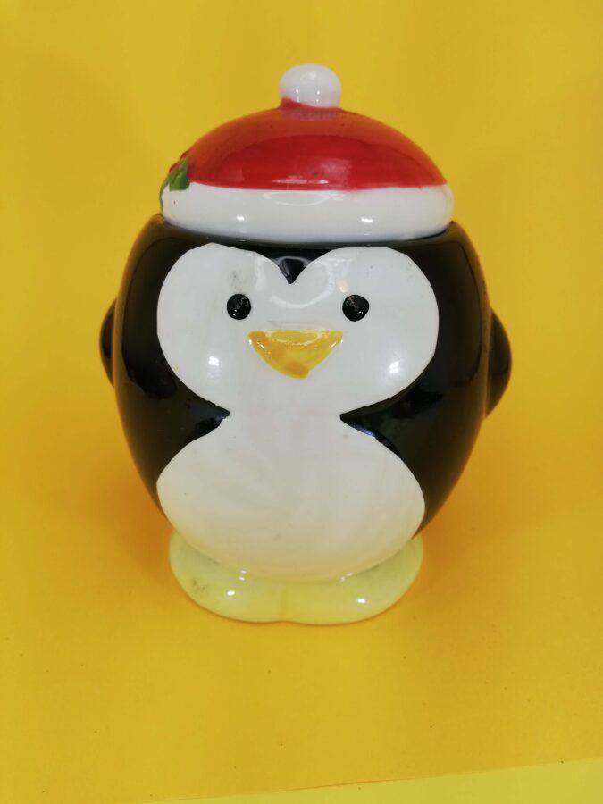 prezent na mikołja pingwinek w czapecze