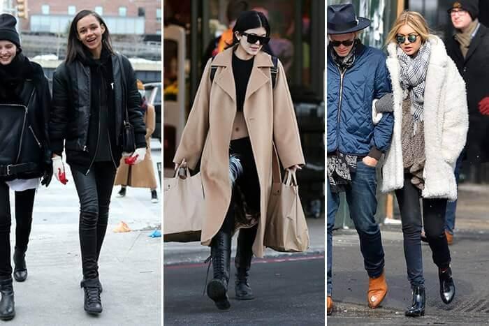 zima z celebrytkami na ulicy