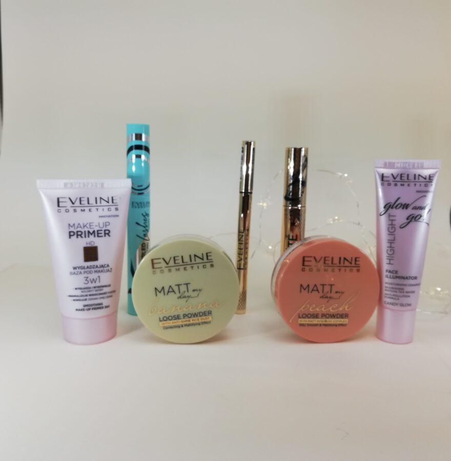 makijaż kosmetykami z Eveline zestaw