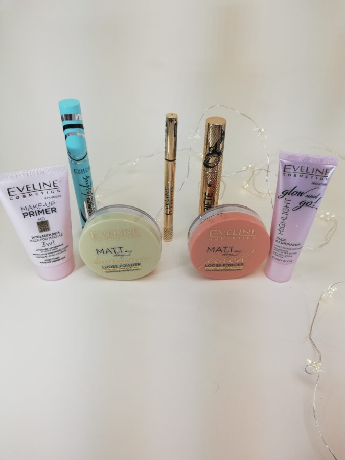 makijaż kosmetykami z Eveline wszystkie kosmetyki