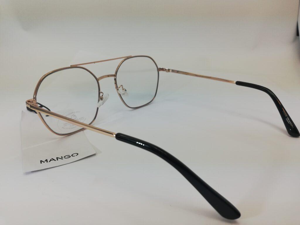 okulary zerówki Mango z tylu