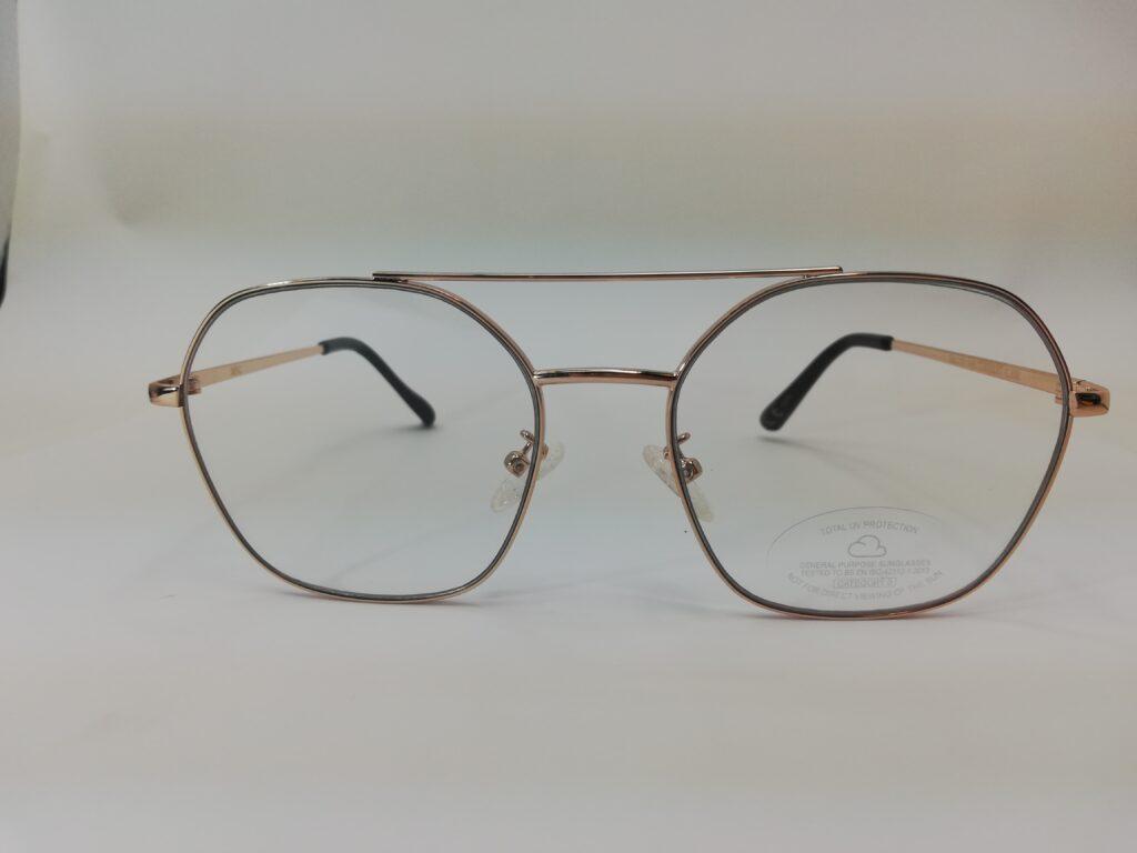 okulary zerówki od Mango przód