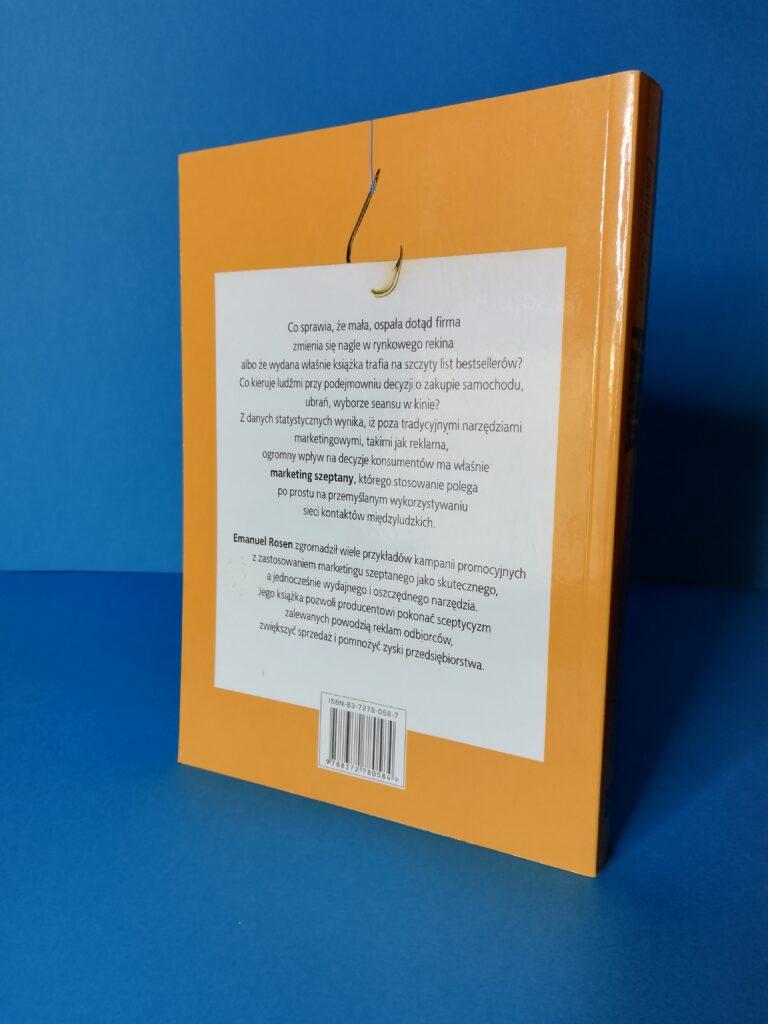 tył książki o marketingu szeptanym