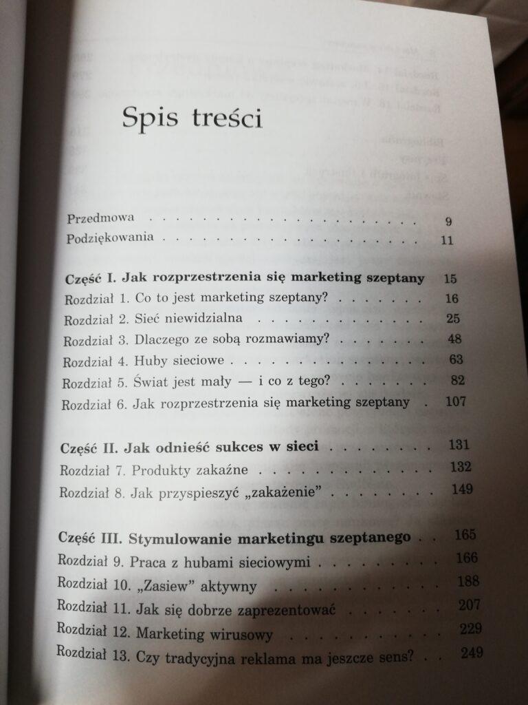 Anatomia marketingu szeptanego spis treści
