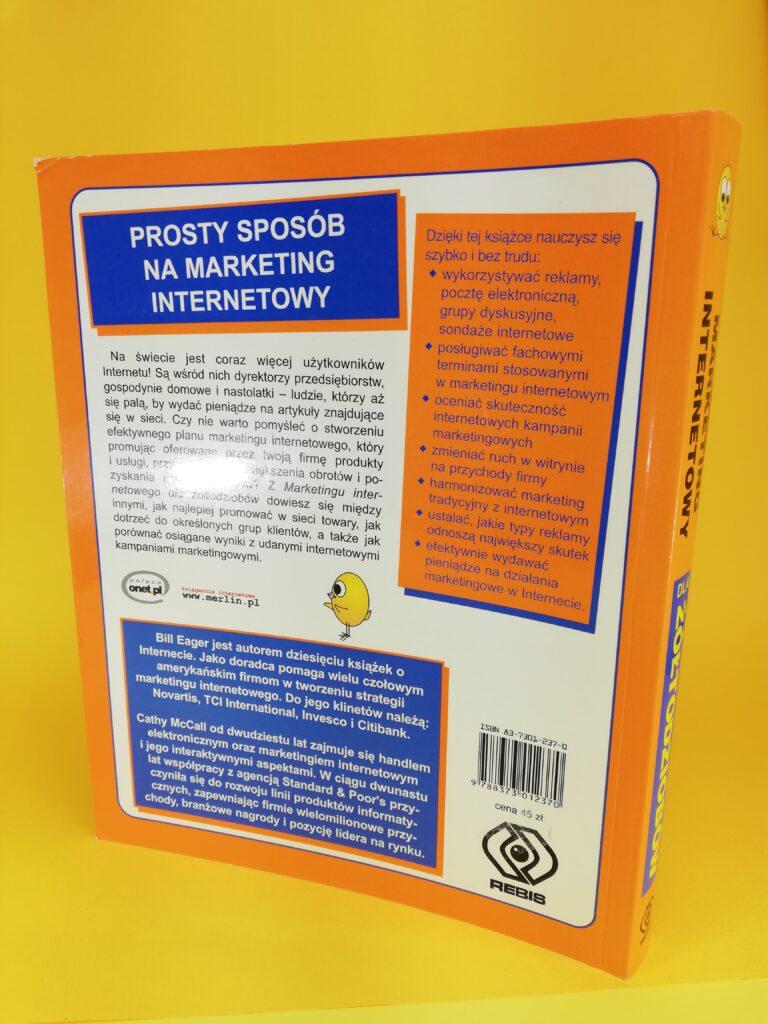 Marketing internetowy dla żółtodzibów okładka tylna
