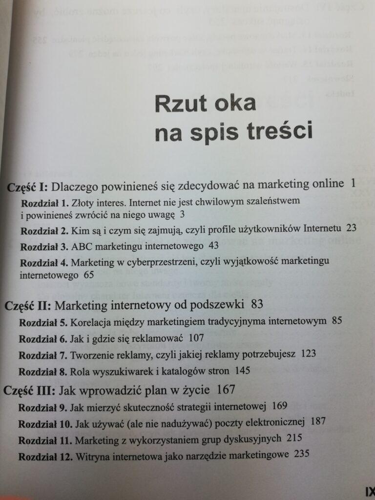 Marketing internetowy dla żółtodziobów spis treści 1