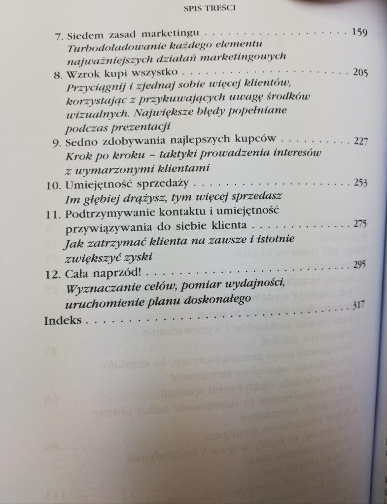 Zarządzanie sprzedaża spis treści 2